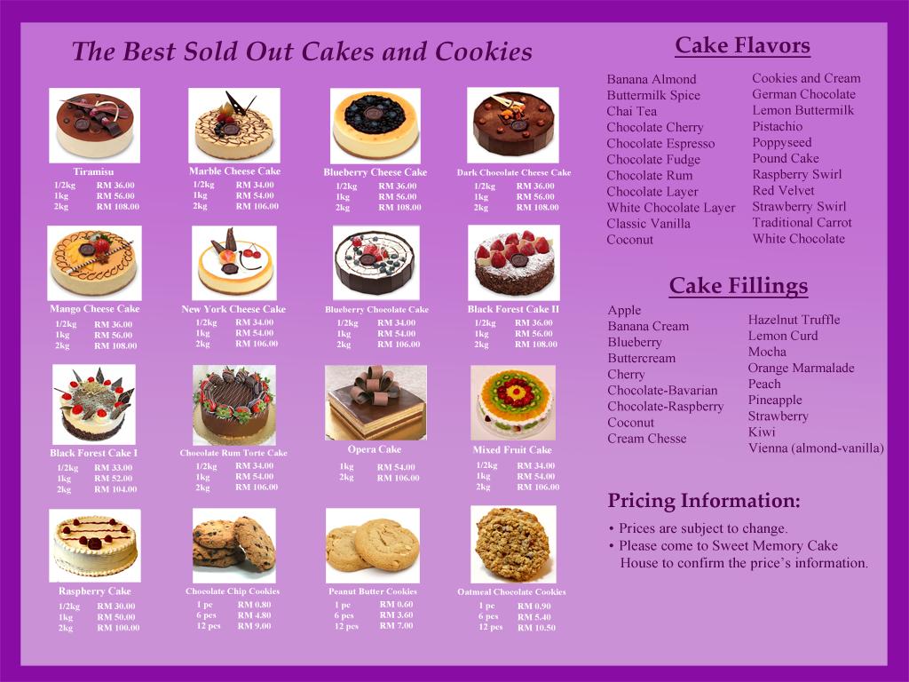 brochure design  sweet memory cake house